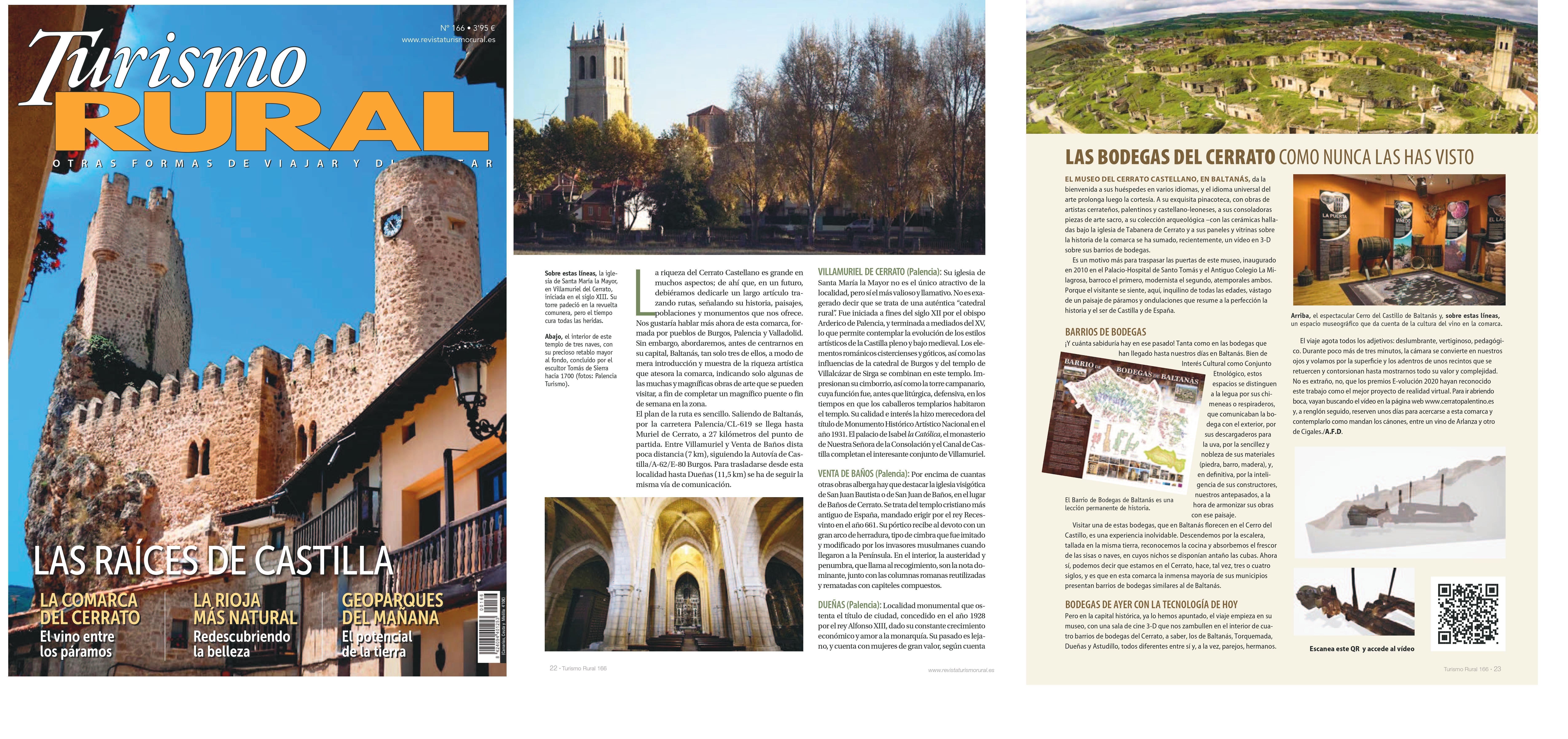 El Cerrato en la revista Turismo Rural0